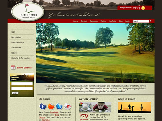 The Links at Stoney Point website